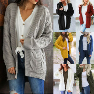 Women-Winter-Knitwear-Cardigan-Sweater-Coat-Chunky-Knitted-Baggy-Loose-Outwear-G