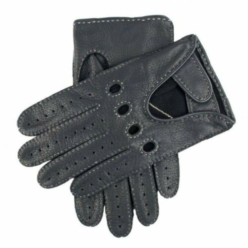 Dents Winchester Deerskin Leather Driving Gloves NAVY