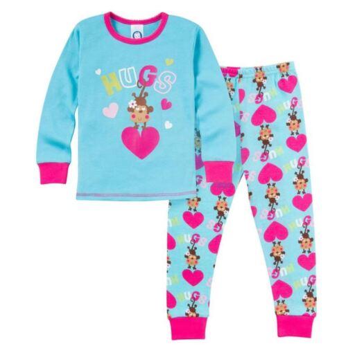 Gerber Girls/' 2-Piece Girls Monkey Hugs Snug Fit PJs Size 24M 4T