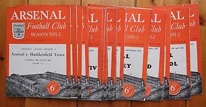 Arsenal-home-programmes-1951-52