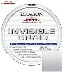 135m Toray Invisible Braid line Dragon 0,06-0,25mm clear