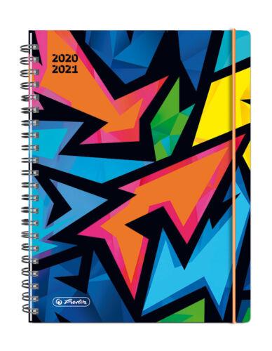 """Format A5 Herlitz Schülerplaner /""""Neon Art/"""" Schülerkalender 2020-2021"""