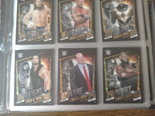 topps wwe slam attax then now forever THEN+NOW  CARDS 17 TO 32 PICK ONES NEED