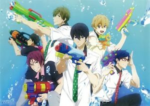 Poster Free Free Haruka Nanase Makoto Tachibana Rin Matsuoka Anime Manga 8 Ebay Trying his best for the team at the relay, rin finally felt happiness and cooperation like the old days at the swimming club. details about poster free free haruka nanase makoto tachibana rin matsuoka anime manga 8 show original title