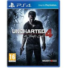 Uncharted 4 A Thief's End PS4 Game Playstation 4 NEW SEALED