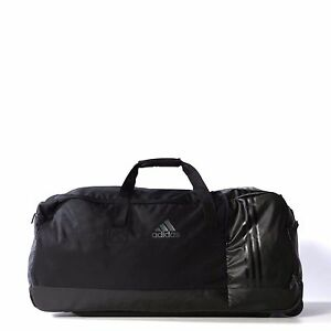 Image is loading Adidas-Duffel-3-Stripes-Wheeled-Team-Training-Bag- 2b3570f481cea