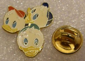 HUEY-DEWEY-LOUIE-DONALD-DUCK-vintage-DISNEY-pin-badge-Z4X