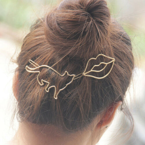 Femme Fille Pince Cheveux Barrette épingle Chat Animaux Bijoux Accessoire Cadeau