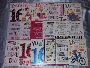 Image Is Loading BIRTHDAY CARD 16TH SIXTEEN YEAR OLD 16YR BOY