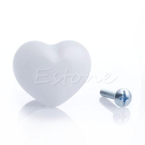 Forme Coeur Céramique Bouton De Porte Armoire Commode Placard Meuble