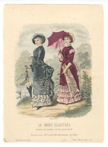 Ladies-Fashion-Print-034-La-Mode-Illustree-034-1882-No-16