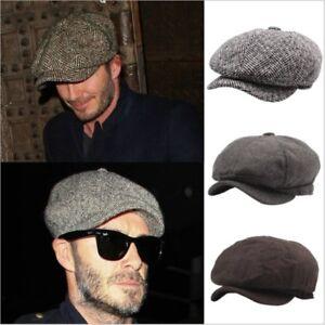 6e2ca0867fa7b NEW Plain grey Black Mens Baker Boy Hat Newsboy Flat Cap Boys Gift ...
