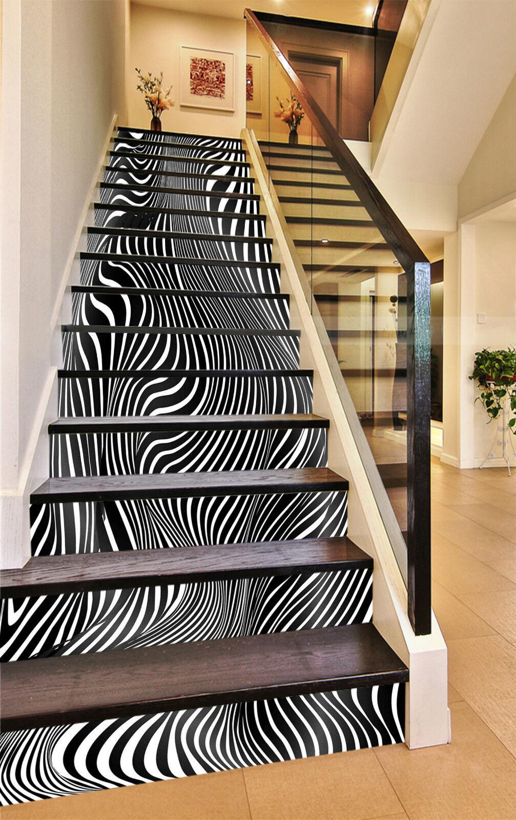 3D Gestreiftes 220 Stair Risers Dekoration Fototapete Vinyl Aufkleber Tapete DE