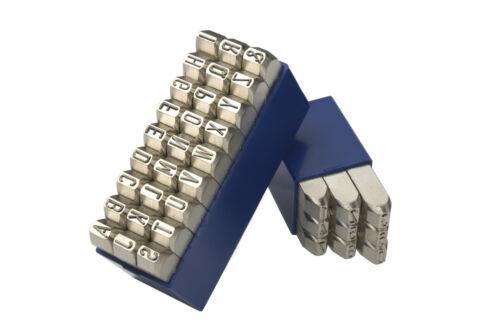 GRAVUREM-NR.1 Schlagzahlen+Schlagbuchstaben Satz Schlagstempel 0-9+A-Z,/& 2mm