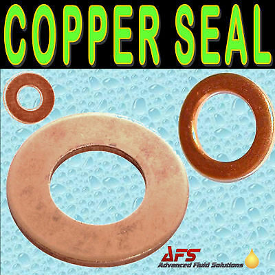METRIC COPPER Sealing Washer Flat Plain Sump Drain Seal Banjo Fuel Bolt Gasket