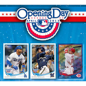 2013 Topps Opening Day Baseball Hobby Box MLB Tradings Cards Rookies Autographs