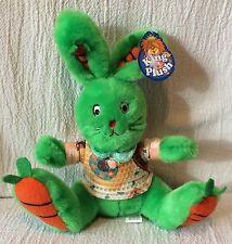 King Plush Green Bunny Rabbit Plush 2002 Soft Cuddly Toys Carrot Feet Ears