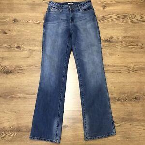 "8f75396a Wrangler Womens Tina Blue Straight Leg Denim Jeans Waist 29"" Leg 34 ..."