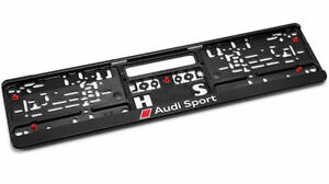 GENUINE-Audi-Sport-Number-Plate-Surround-Holder-Plinth-NEW-3291401400