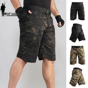 Tactical-Military-Mens-Cargo-Shorts-Combat-Summer-Multi-Pocket-Army-Casual-Pants