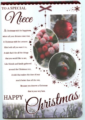 NIECE CHRISTMAS LARGE CARD QUALITY