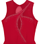 Details about  /Red Figure Ice Skating Dress Sleeveless with Crystals Women/'s Medium