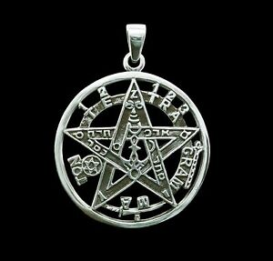 925 sterling silver esoteric pentagram pendant star tetragrammaton image is loading 925 sterling silver esoteric pentagram pendant star tetragrammaton aloadofball Choice Image