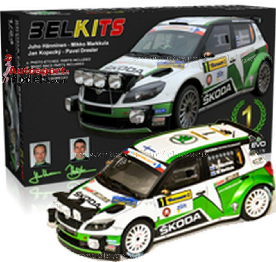 1 24 2012 Skoda Fabia S2000 Barum Czech Rally Zlin model kit by BelKits