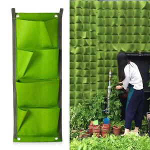 4-Taschen-Wand-Pflanztasche-Pflanzbeutel-Blumentopf-Pflanzbehaelter-Pflanzenwand