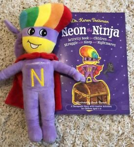 Neon the Nightmare, Night time, Worry, & dream protecting Ninja soft cuddly toy