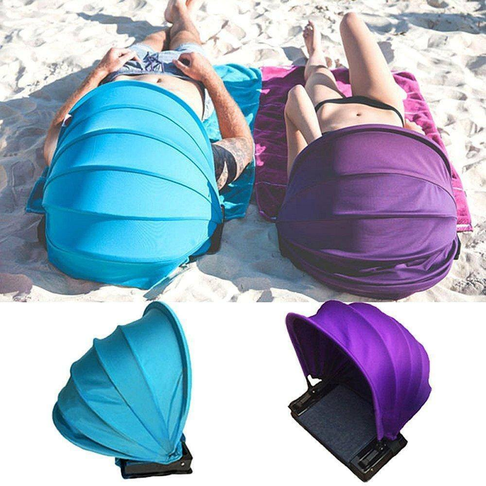 Pop Up Portable Adjustable Beach Sun Shade Canopy Instant Outdoors Beach Tent SF