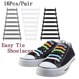 Easy No Tie Rubber Shoe Laces Colored