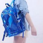 Fashion Clear Transparent Shoulder Bag Jelly Candy Color Backpack Handbag Purse