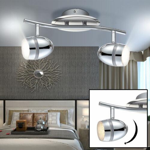 Deckenlampe LED 6W Lampe Leuchte verchromt Büro Arbeitszimmer Spot Strahler Wand