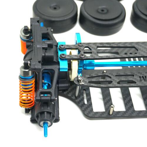 Plastic /& Carbon Touring Car Frame Kit For TT01 TT01E Shaft Drive RC 1//10 4WD