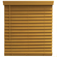 22x48 Inch Espresso Faux Wood Blind Cordless Room Darkening Privacy Window Shade