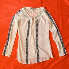 Nine West Vintage American Jeans Womans Embroidered Blouse Top M Retro 60's 70's