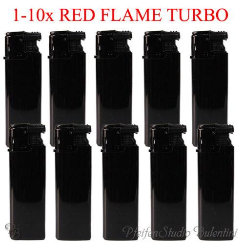 Accendino Antivento Nero Rosso Turbo Fiamma Jet Flame Anti-vento Torcia