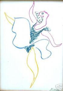 PICASSO-ORIGINAL-LITHOGRAPH-1954-034-DANSEUSE-034-amp-MATISSE