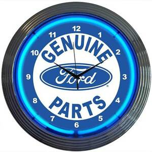 Genuine Ford Parts oval neon clock sign Wall lamp light V8 Man cave lamp OLP