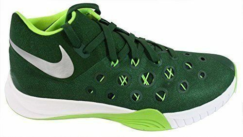 NEW NIKE ZOOM HYPERQUICKNESS 2015 sz 13.5 GREEN White Basketball shoes Sneakers