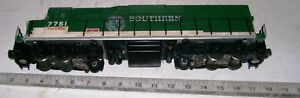 Vintage-SD45-WILLIAMS-WRL-Train-O-Scale-Diesel-SOUTHERN-Locomotive-with-2-Motors