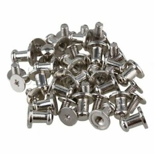 20PCS Leather Craft Fasteners Screw In Button Stud 9.5x7.5mm For Bag Belts Cloth