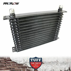 Proflow-Auto-Transmission-Oil-Cooler-15-Row-340-X-210-X-50-10AN-Fittings-New