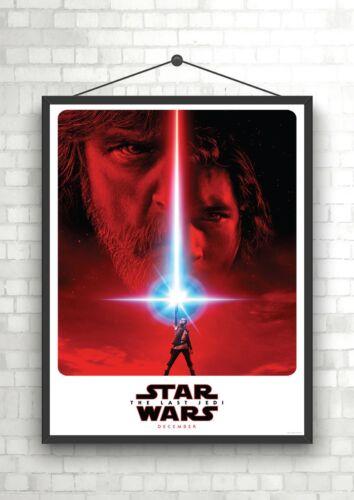 Star Wars Last Jedi Classic Movie Poster Art Print A0 A1 A2 A3 A4 Maxi