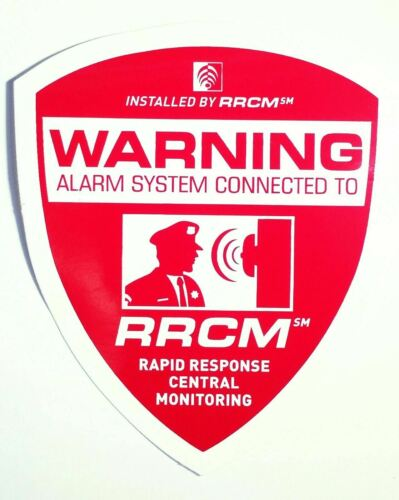 Alarm Security Stickers Camera Warning Dog Decals /& Free Auto Alarm Static Cling