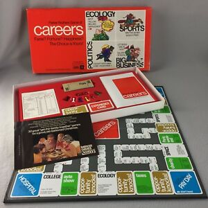 Vintage-Careers-Board-Game-1971-Parker-Brothers-Complete