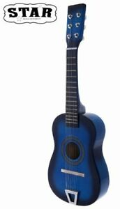 Star-Kids-Acoustic-Toy-Guitar-23-Inches-Blue-Color