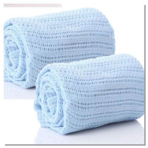 CELLULAR BABY BLANKET BLUE//PINK//YELLOW /& WHITE  VARIOUS COLOURS  OFFER MULTI BUY