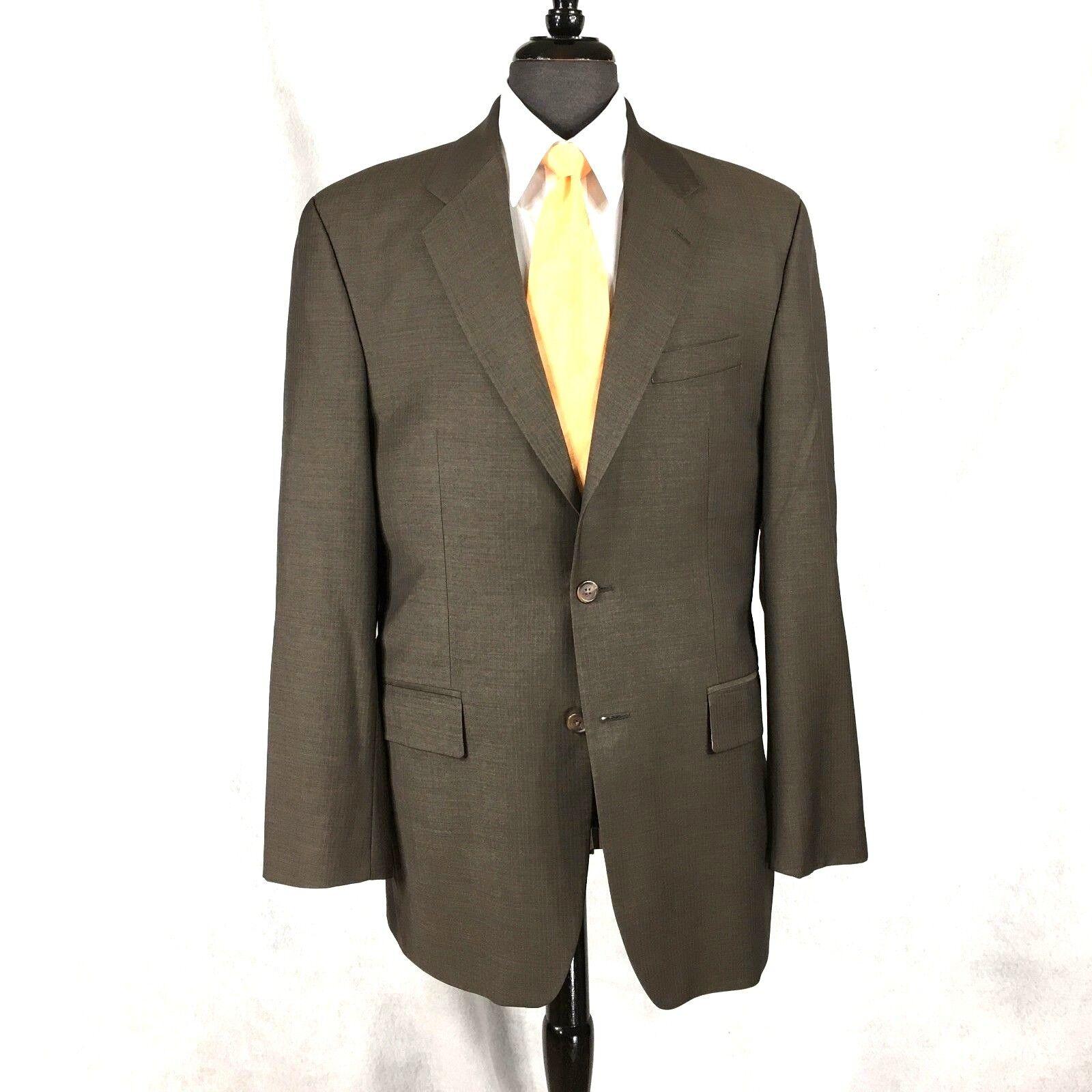 Chaps Ralph Lauren mens Braun Herringbone wool cashmere blazer jkt 40L to 42L